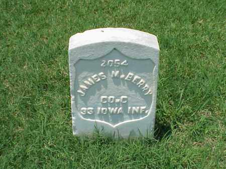 BERRY (VETERAN UNION), JAMES M - Pulaski County, Arkansas   JAMES M BERRY (VETERAN UNION) - Arkansas Gravestone Photos