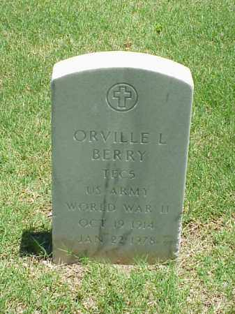 BERRY (VETERAN WWII), ORVILLE L - Pulaski County, Arkansas | ORVILLE L BERRY (VETERAN WWII) - Arkansas Gravestone Photos