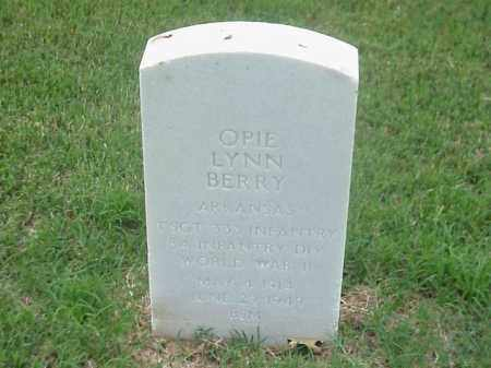 BERRY (VETERAN WWII), OPIE LYNN - Pulaski County, Arkansas | OPIE LYNN BERRY (VETERAN WWII) - Arkansas Gravestone Photos