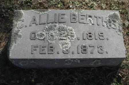 BERTHE, CALVIN ALLIE - Pulaski County, Arkansas | CALVIN ALLIE BERTHE - Arkansas Gravestone Photos