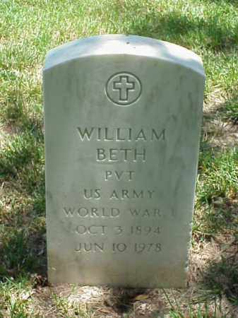 BETH (VETERAN), WILLIAM - Pulaski County, Arkansas | WILLIAM BETH (VETERAN) - Arkansas Gravestone Photos