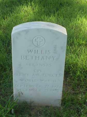 BETHANY (VETERAN WWII), WILLIS - Pulaski County, Arkansas | WILLIS BETHANY (VETERAN WWII) - Arkansas Gravestone Photos