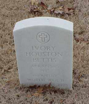 BETTIS  (VETERAN WWII), IVORY HOUSTON - Pulaski County, Arkansas | IVORY HOUSTON BETTIS  (VETERAN WWII) - Arkansas Gravestone Photos