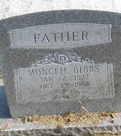 BIBBS, MONCEIL - Pulaski County, Arkansas | MONCEIL BIBBS - Arkansas Gravestone Photos