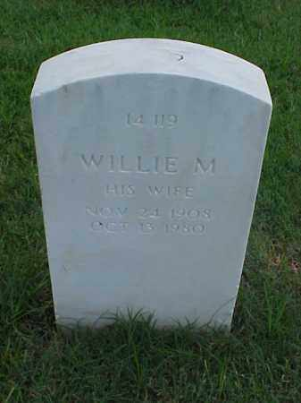 BIGGS, WILLIE M - Pulaski County, Arkansas | WILLIE M BIGGS - Arkansas Gravestone Photos