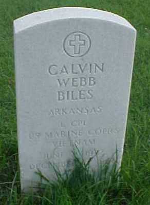 BILES (VETERAN VIET), CALVIN WEBB - Pulaski County, Arkansas   CALVIN WEBB BILES (VETERAN VIET) - Arkansas Gravestone Photos