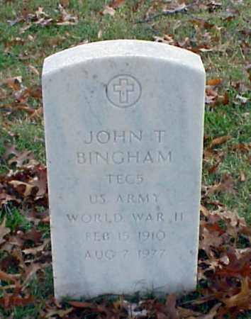 BINGHAM (VETERAN WWII), JOHN T - Pulaski County, Arkansas   JOHN T BINGHAM (VETERAN WWII) - Arkansas Gravestone Photos