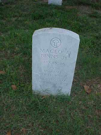 BINNS, JR (VETERAN WWII), MACEO ANTOIO - Pulaski County, Arkansas   MACEO ANTOIO BINNS, JR (VETERAN WWII) - Arkansas Gravestone Photos