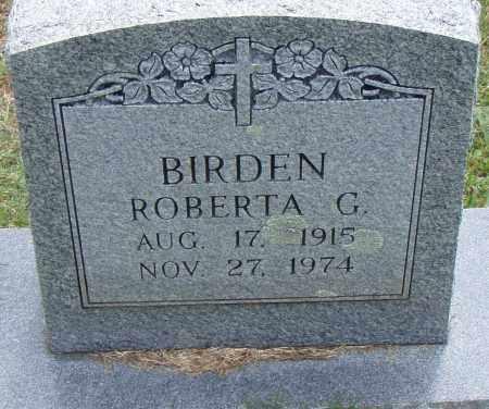BIRDEN, ROBERTA  G. - Pulaski County, Arkansas | ROBERTA  G. BIRDEN - Arkansas Gravestone Photos