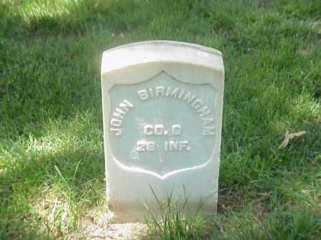 BIRMINGHAM (VETERAN UNION), JOHN - Pulaski County, Arkansas   JOHN BIRMINGHAM (VETERAN UNION) - Arkansas Gravestone Photos