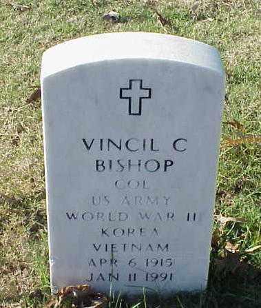 BISHOP (VETERAN 3 WARS), VINCIL C - Pulaski County, Arkansas | VINCIL C BISHOP (VETERAN 3 WARS) - Arkansas Gravestone Photos