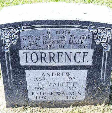 TORRENCE, ELIZABETH - Pulaski County, Arkansas | ELIZABETH TORRENCE - Arkansas Gravestone Photos