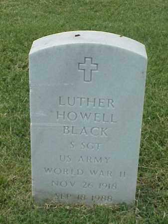 BLACK (VETERAN WWII), LUTHER HOWELL - Pulaski County, Arkansas | LUTHER HOWELL BLACK (VETERAN WWII) - Arkansas Gravestone Photos