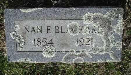 BLACKARD, NANCY ANN FRANCIS - Pulaski County, Arkansas | NANCY ANN FRANCIS BLACKARD - Arkansas Gravestone Photos