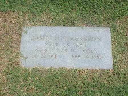 BLACKBURN VETERAN 2 WARS), JAMES H - Pulaski County, Arkansas | JAMES H BLACKBURN VETERAN 2 WARS) - Arkansas Gravestone Photos