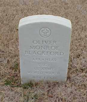 BLACKFORD  (VETERAN WWII), OLIVER MONROE - Pulaski County, Arkansas | OLIVER MONROE BLACKFORD  (VETERAN WWII) - Arkansas Gravestone Photos