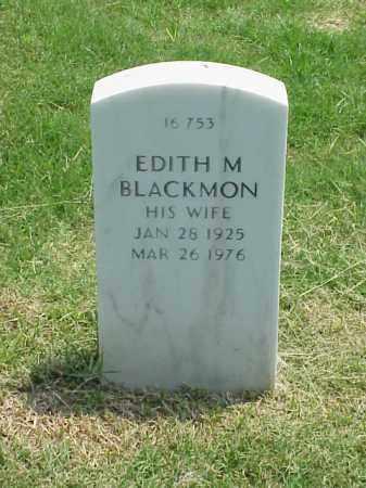 BLACKMON, EDITH M - Pulaski County, Arkansas | EDITH M BLACKMON - Arkansas Gravestone Photos