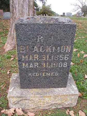 BLACKMON, R H - Pulaski County, Arkansas   R H BLACKMON - Arkansas Gravestone Photos