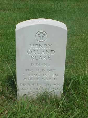 BLAKE (VETERAN WWII), HENRY ORLAND - Pulaski County, Arkansas   HENRY ORLAND BLAKE (VETERAN WWII) - Arkansas Gravestone Photos