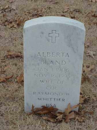 BLAND, ALBERTA - Pulaski County, Arkansas | ALBERTA BLAND - Arkansas Gravestone Photos