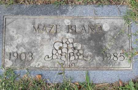 BLAND, MAZE - Pulaski County, Arkansas   MAZE BLAND - Arkansas Gravestone Photos