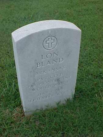 BLAND (VETERAN WWI), LON - Pulaski County, Arkansas | LON BLAND (VETERAN WWI) - Arkansas Gravestone Photos