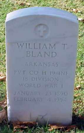BLAND (VETERAN WWI), WILLIAM T - Pulaski County, Arkansas | WILLIAM T BLAND (VETERAN WWI) - Arkansas Gravestone Photos