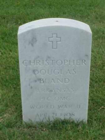 BLAND (VETERAN WWII), CHRISTOPHER DOUGLAS - Pulaski County, Arkansas | CHRISTOPHER DOUGLAS BLAND (VETERAN WWII) - Arkansas Gravestone Photos