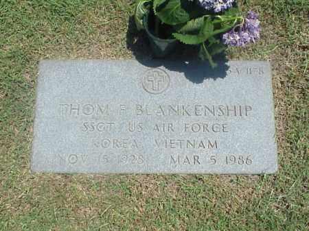 BLANKENSHIP (VETERAN 2 WARS), THOM F - Pulaski County, Arkansas   THOM F BLANKENSHIP (VETERAN 2 WARS) - Arkansas Gravestone Photos