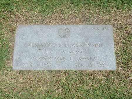 BLANKENSHIP (VETERAN 2 WARS), TALMADGE L - Pulaski County, Arkansas   TALMADGE L BLANKENSHIP (VETERAN 2 WARS) - Arkansas Gravestone Photos