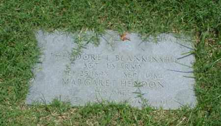 BLANKINSHIP (VETERAN WWI), THEODORE L - Pulaski County, Arkansas | THEODORE L BLANKINSHIP (VETERAN WWI) - Arkansas Gravestone Photos