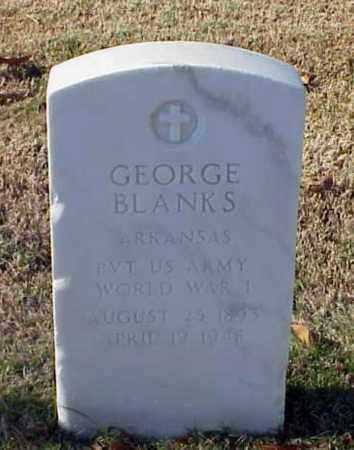 BLANKS (VETERAN WWI), GEORGE - Pulaski County, Arkansas   GEORGE BLANKS (VETERAN WWI) - Arkansas Gravestone Photos