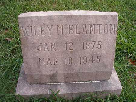 BLANTON, WILEY M - Pulaski County, Arkansas | WILEY M BLANTON - Arkansas Gravestone Photos