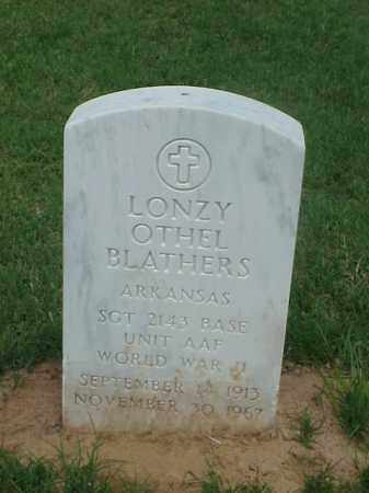 BLATHERS (VETERAN WWII), LONZY OTHEL - Pulaski County, Arkansas | LONZY OTHEL BLATHERS (VETERAN WWII) - Arkansas Gravestone Photos