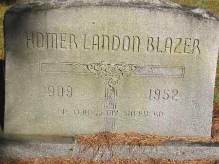 BLAZER, HOMER LANDON - Pulaski County, Arkansas | HOMER LANDON BLAZER - Arkansas Gravestone Photos