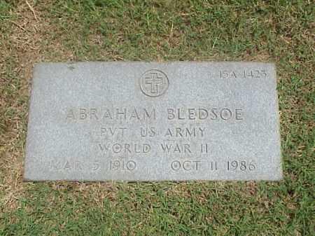 BLEDSOE (VETERAN WWII), ABRAHAM - Pulaski County, Arkansas | ABRAHAM BLEDSOE (VETERAN WWII) - Arkansas Gravestone Photos