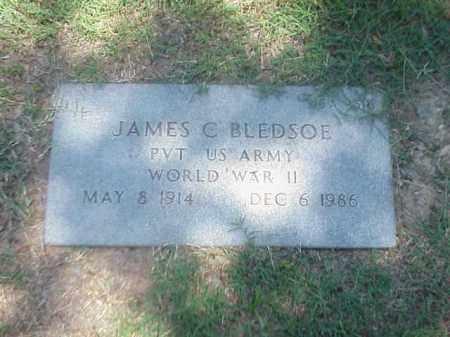BLEDSOE (VETERAN WWII), JAMES C - Pulaski County, Arkansas | JAMES C BLEDSOE (VETERAN WWII) - Arkansas Gravestone Photos