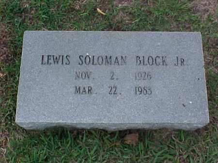 BLOCK, JR, LEWIS SOLOMAN - Pulaski County, Arkansas   LEWIS SOLOMAN BLOCK, JR - Arkansas Gravestone Photos