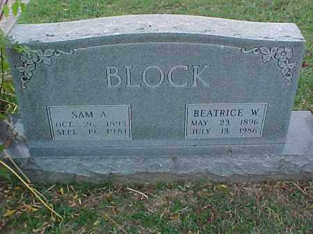 BLOCK, SAM A - Pulaski County, Arkansas | SAM A BLOCK - Arkansas Gravestone Photos