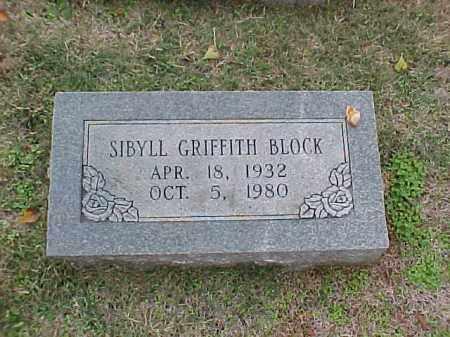 BLOCK, SIBYLL - Pulaski County, Arkansas | SIBYLL BLOCK - Arkansas Gravestone Photos