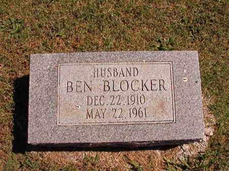 BLOCKER, BEN - Pulaski County, Arkansas   BEN BLOCKER - Arkansas Gravestone Photos