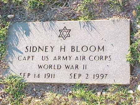 BLOOM (VETERAN), SIDNEY H - Pulaski County, Arkansas   SIDNEY H BLOOM (VETERAN) - Arkansas Gravestone Photos