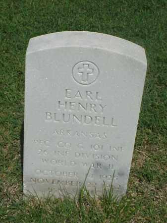 BLUNDELL (VETERAN WWII), EARL HENRY - Pulaski County, Arkansas | EARL HENRY BLUNDELL (VETERAN WWII) - Arkansas Gravestone Photos