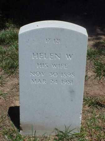 BOAS, HELEN W. - Pulaski County, Arkansas | HELEN W. BOAS - Arkansas Gravestone Photos