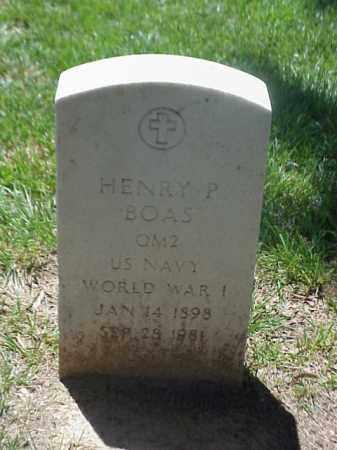 BOAS (VETERAN WWI), HENRY P - Pulaski County, Arkansas   HENRY P BOAS (VETERAN WWI) - Arkansas Gravestone Photos