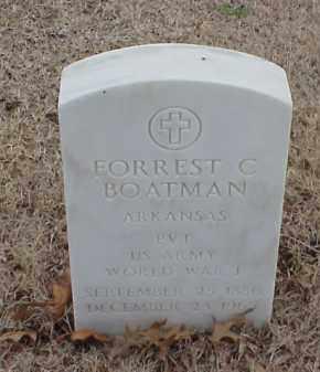 BOATMAN  (VETERAN WWI), FORREST C - Pulaski County, Arkansas | FORREST C BOATMAN  (VETERAN WWI) - Arkansas Gravestone Photos