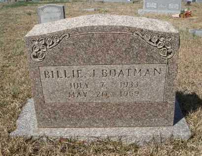 BOATMAN, BILLIE J - Pulaski County, Arkansas   BILLIE J BOATMAN - Arkansas Gravestone Photos