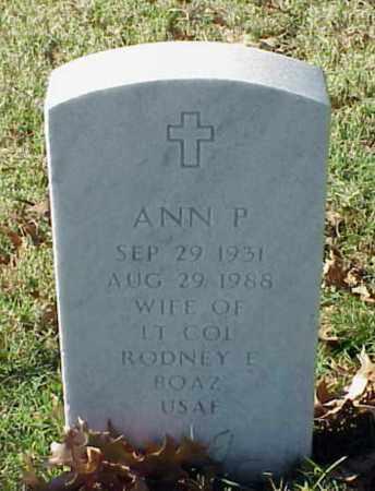 BOAZ, ANN P - Pulaski County, Arkansas | ANN P BOAZ - Arkansas Gravestone Photos