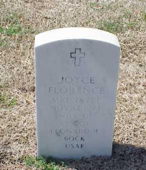 BOCK, JOYCE FLORENCE - Pulaski County, Arkansas | JOYCE FLORENCE BOCK - Arkansas Gravestone Photos