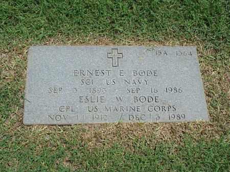 BODE (VETERAN IW), ERNEST E - Pulaski County, Arkansas | ERNEST E BODE (VETERAN IW) - Arkansas Gravestone Photos